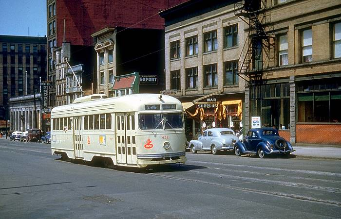 Pcc Car On Hastings Street 1950 Bcer Co 1939 Pcc