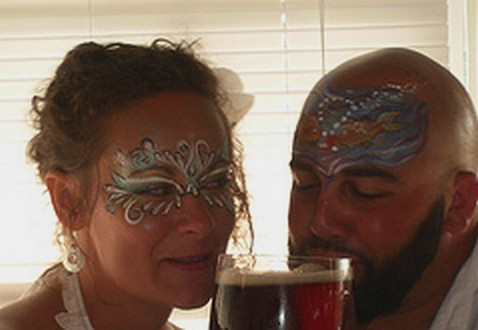 Face Wedding Photo Wedding Amy Face Painting