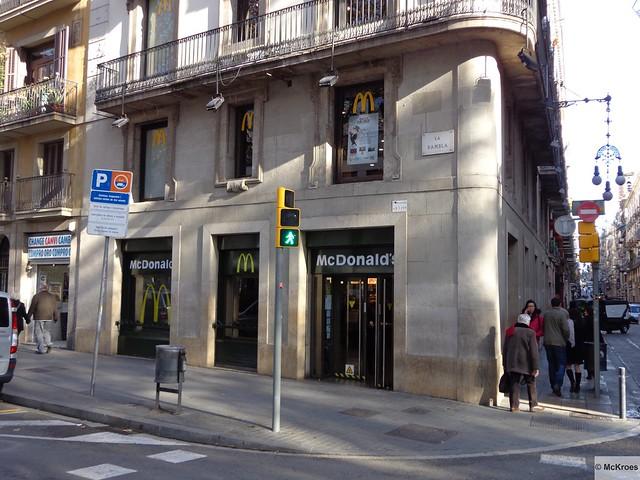 mcdonald 39 s barcelona rambla de capuchinos 60 spain