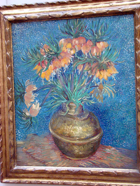 van gogh fritillaires couronne imp riale dans un vase de flickr photo sharing. Black Bedroom Furniture Sets. Home Design Ideas