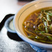 japanese wheat noodle with wild plants