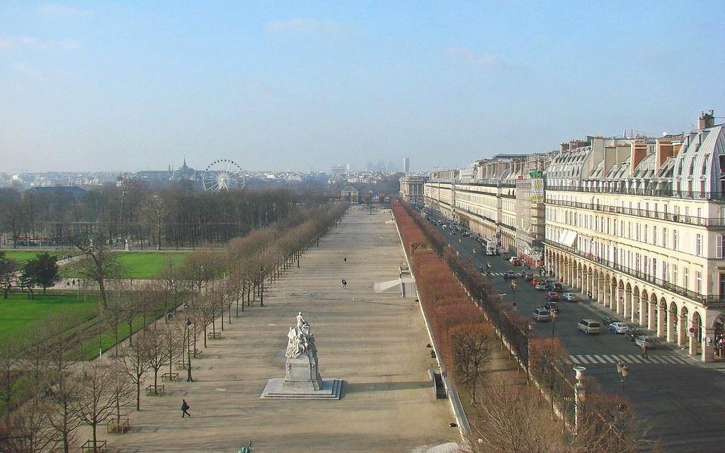 Le jardin des tuileries et la rue de rivoli en hiver flickr for Jardin 122 rue des poissonniers