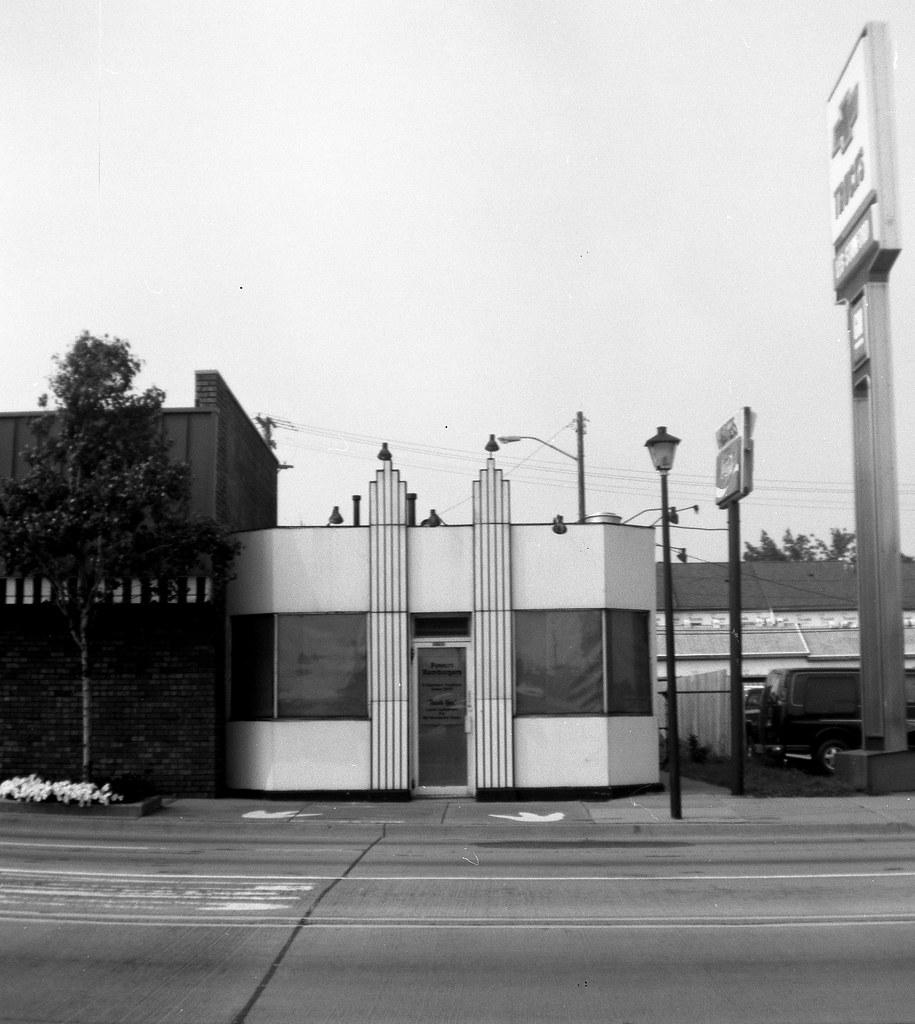 Powers Hamburgers Dearborn Michigan Verichrome Pan Film