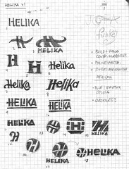 Helika Logo Sketches | by Mike Rohde