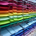 Rainbow of Coloured Paper