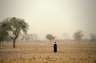 Walking through a field | by World Bank Photo Collection