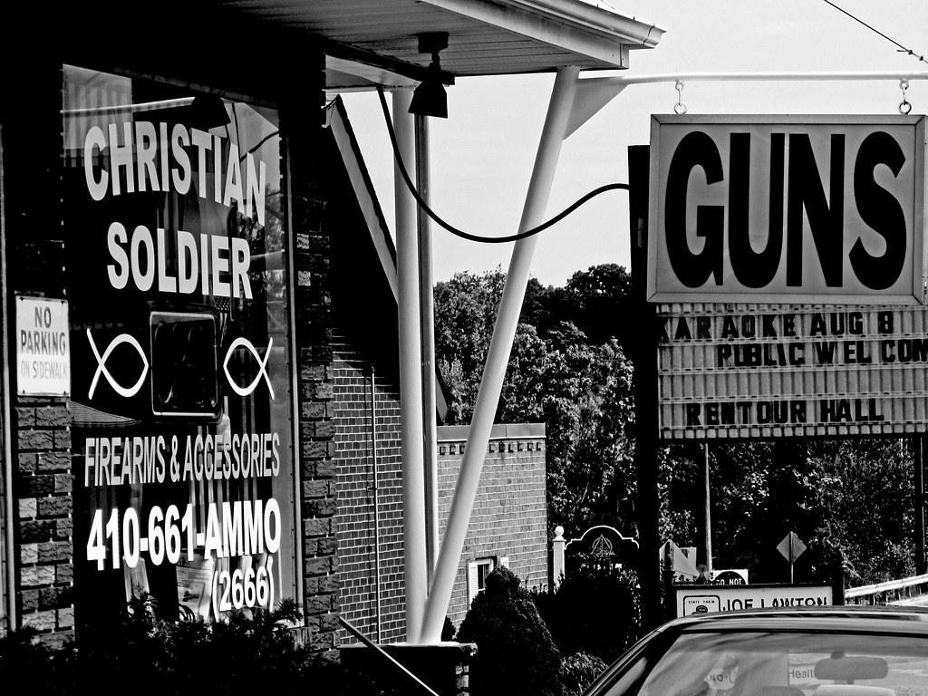 Christian soldier guns karaoke large on black evan for Christian helfrich
