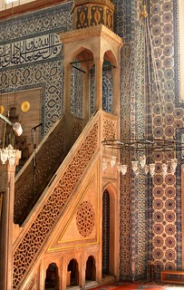 Tilework inside the Rustem Pasa Mosque, Istanbul, Turkey | by Alaskan Dude