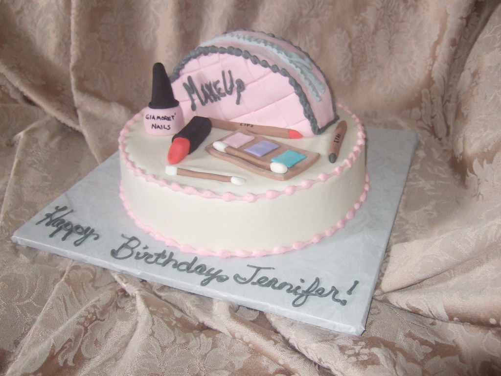 Glamour Girl Makeup Cake Single Layer 9 Inch Round With