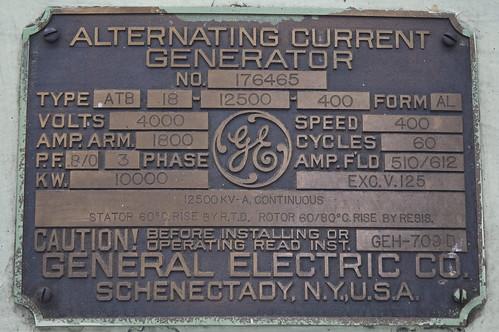 Alternating Current Generator Nameplate Flickr Photo
