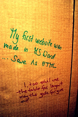 Web Design Confession Booth (vii) | by allaboutgeorge