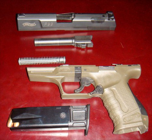 Disassembly Walther Walther P99 Disassembled