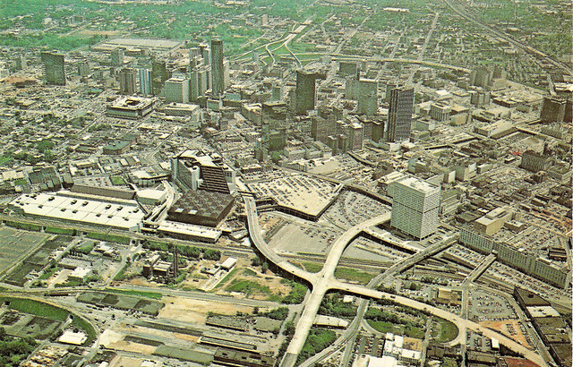Atlanta Aerial View Late 70s This View Faces East And