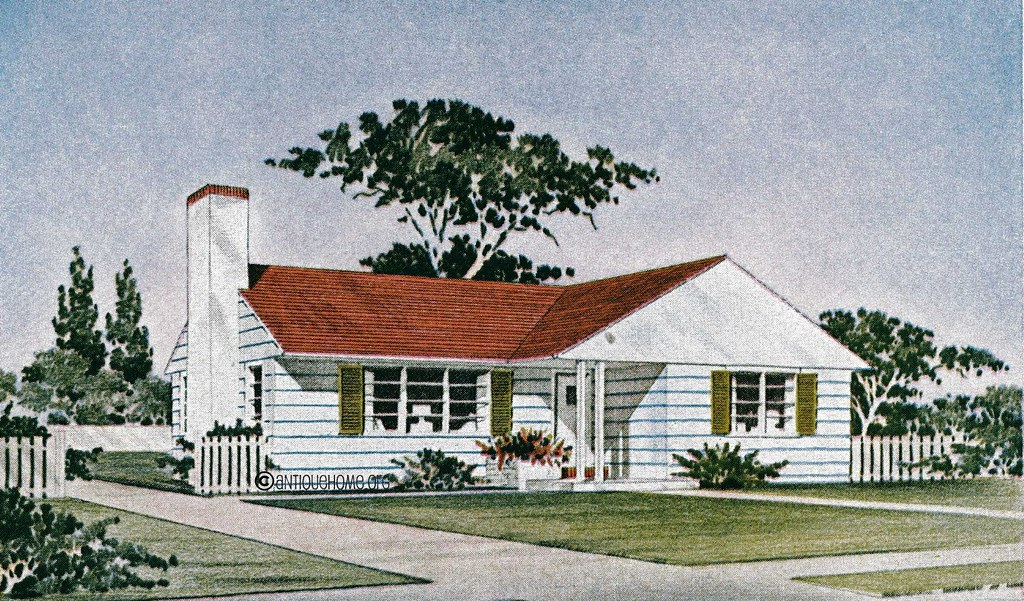 The revere 1950s ranch style home house plans liberty for House 1950