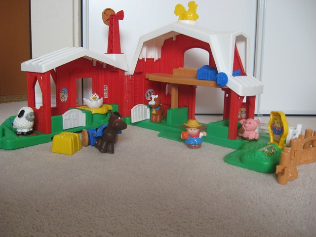 SOLD - Fisher Price Little People - Farm Animal Farm Sound ...
