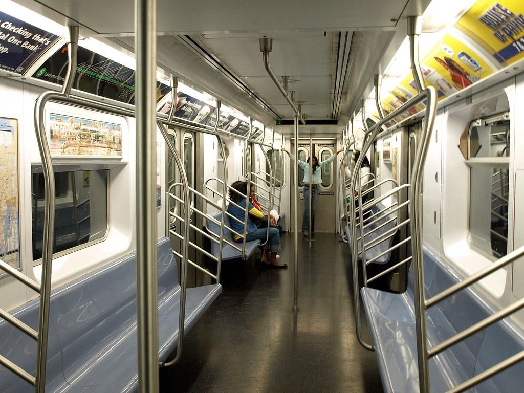inside a clean mta subway car lexington avenue line new flickr. Black Bedroom Furniture Sets. Home Design Ideas