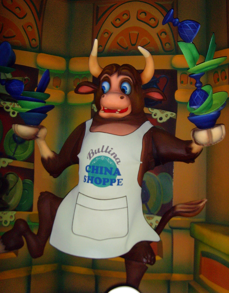 China Shoppe Bull | From Roger Rabbit's Car Toon Spin at ...