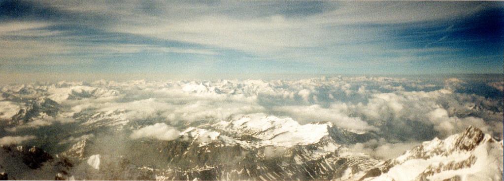sommet du mont blanc panoramique 4 depuis le sommet du flickr