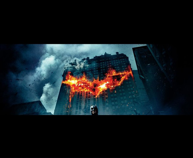 The Dark Knight Batman Burning Wallpaper