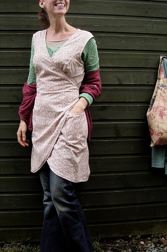 country apron dress I made | by Verity Hope www.VerityHope.com
