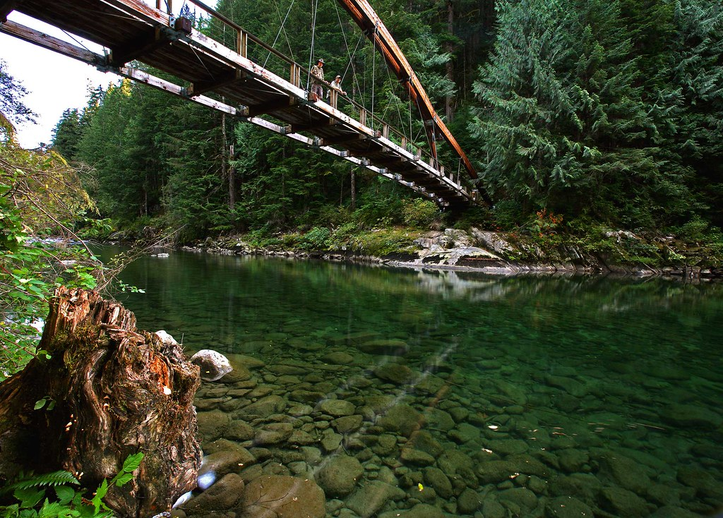 Middle fork snoqualmie river foot bridge middle fork for Wa fly fishing forum