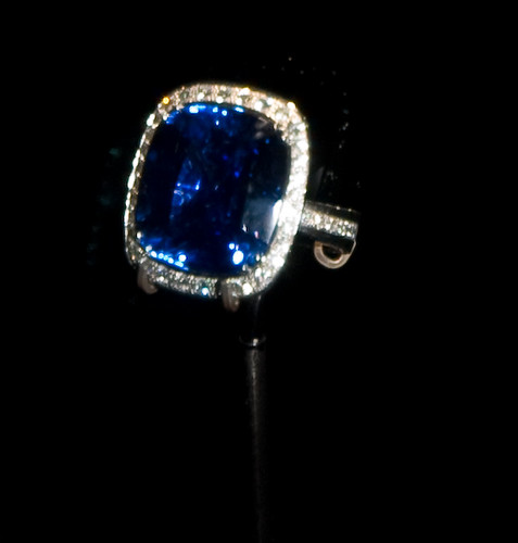 Sapphire Diamond Ring White Gold