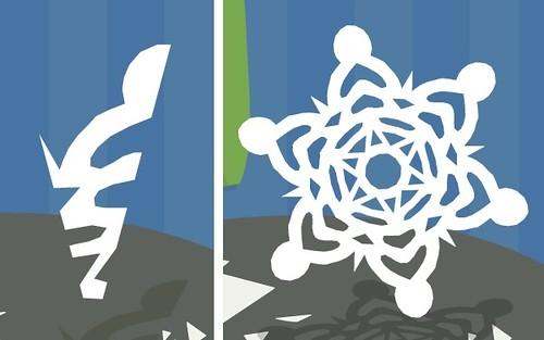Virtual snowflake cutting | Paper snowflake tutorial ~ Part ...