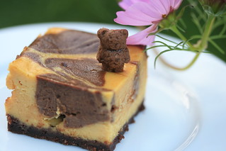 Chocolate Pumpkin Cheesecake Bars | by Food Librarian