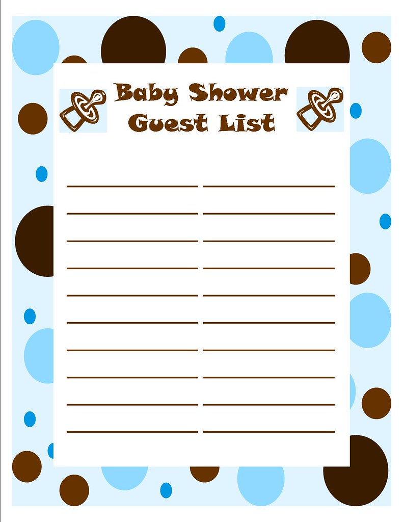 baby shower boy guest list just a guest list i designed fo