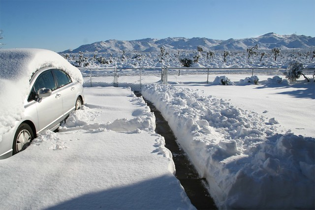 Yucca Valley Snow Dec 18 2008 We Moved From Wrightwood