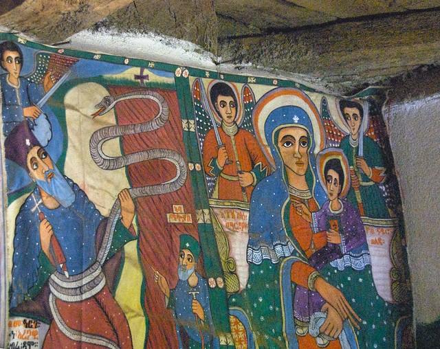 Ethiopian Orthodox Religious Painting, Yeha, Ethiopia