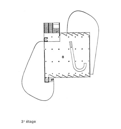 Le Corbusier Carpenter Center Plan Level 3 By Evan
