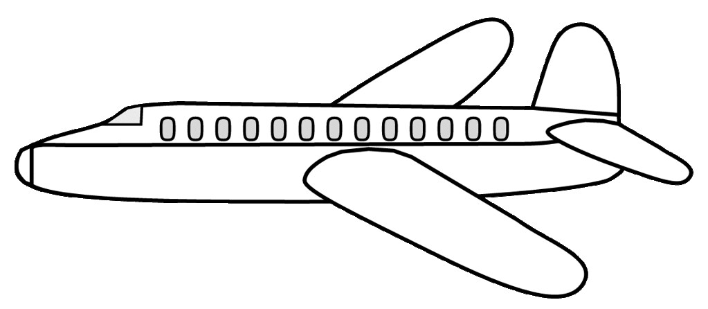 Airplane clipart sketch ex lge