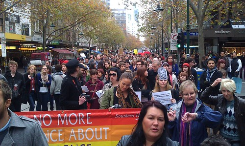 SlutWalk Melbourne on Swanston Street 2 | by Ameel Khan