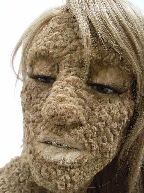 Woman hairy bush