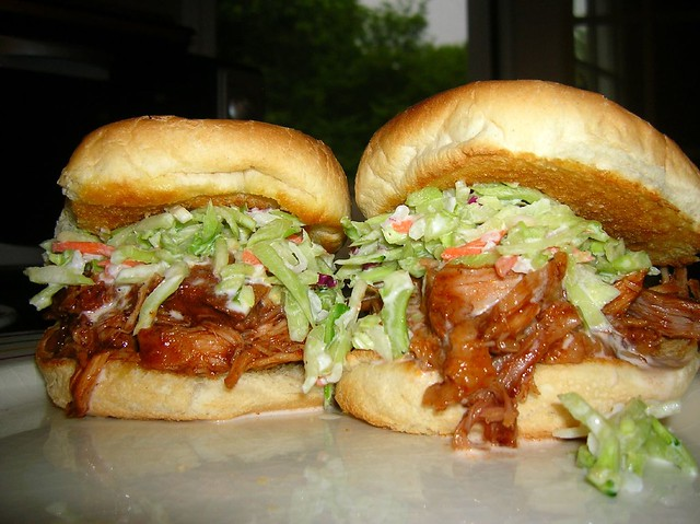 Homemade BBQ Pulled Pork Sandwiches with Homemade Coleslaw | Flickr ...