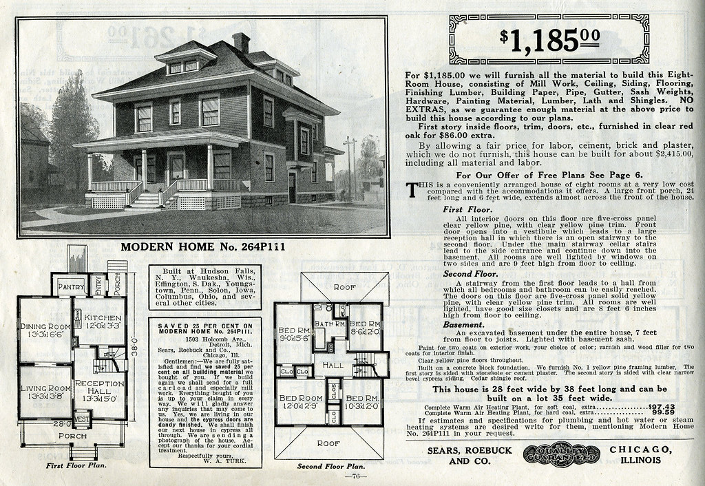 Sears foursquare the chelsea or 264p111 the chelsea or for Historical home plans