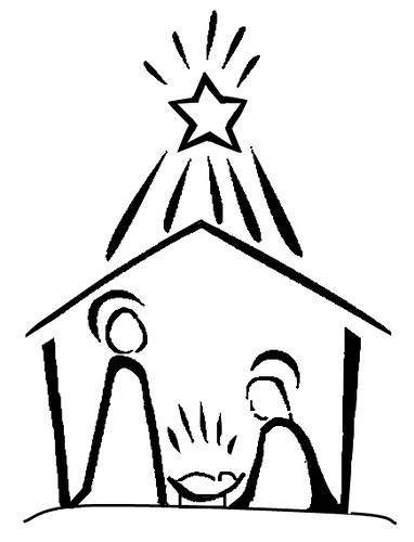 Line Art Nativity : Nativity line drawing will humes flickr
