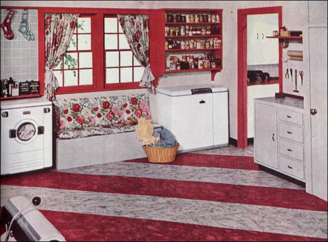 1949 Sloan Blabon Linoleum Laundry Room Ad This Ad