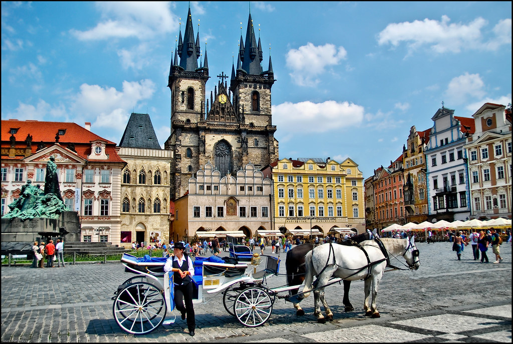 Old town square prague the shot of famous prague old for Prague square