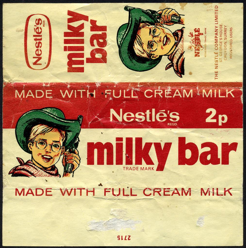 Uk Neslte S Milky Bar 2p Candy Wrapper 1970 S