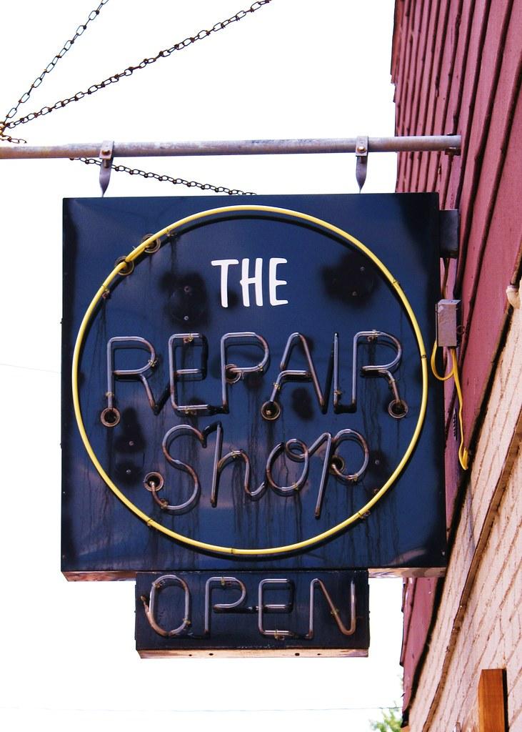 old repair shop sign old repair sign in mercer wi