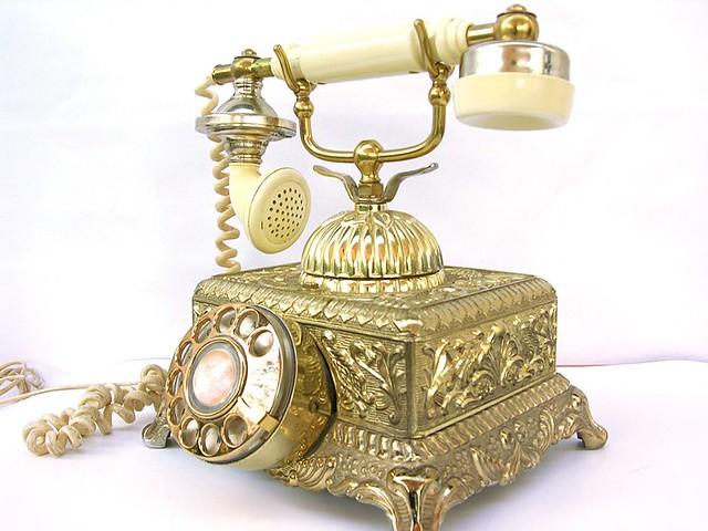 Vintage Radio Shack Victorian Rotary Metal Phone This Is