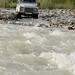 Land Rover in action in the Altai Mountains