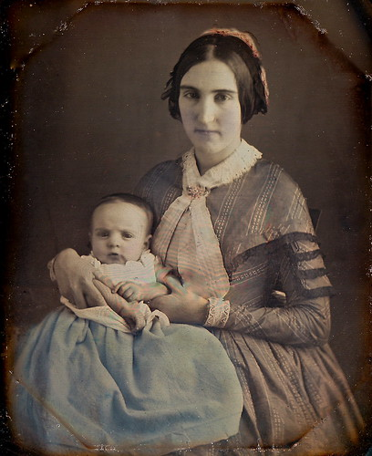 Baby in Blue, 1/6th-Plate Tinted Daguerreotype, Circa 1849 | by lisby1