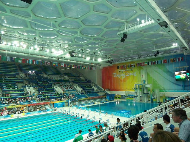 Beijing olympic pool flickr photo sharing for Beijing swimming pool olympics