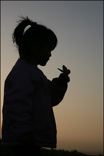 Silhouette Maddy with butterfly | by Donna & Andrew
