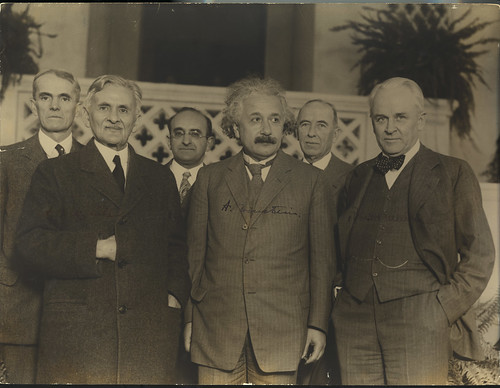 Portrait of Albert Einstein and Others (1879-1955), Physicist | by Smithsonian Institution