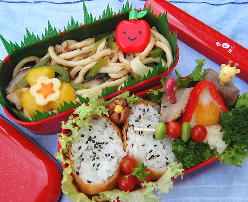 Yaki udon and inari sushi | by Food, Fash, Fit