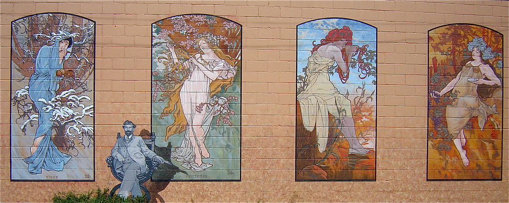 Four Seasons Day 14 365 Mural Of Alphonse Mucha 39 S The